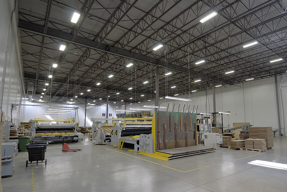 LED lighting solutions for a warehouse