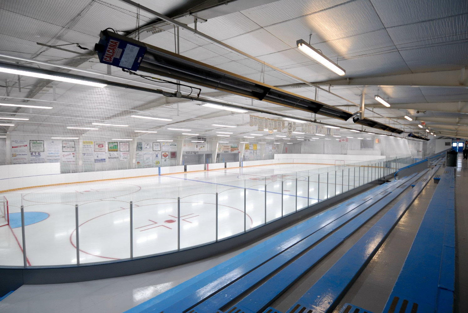 LED lighting solutions for a hockey arena