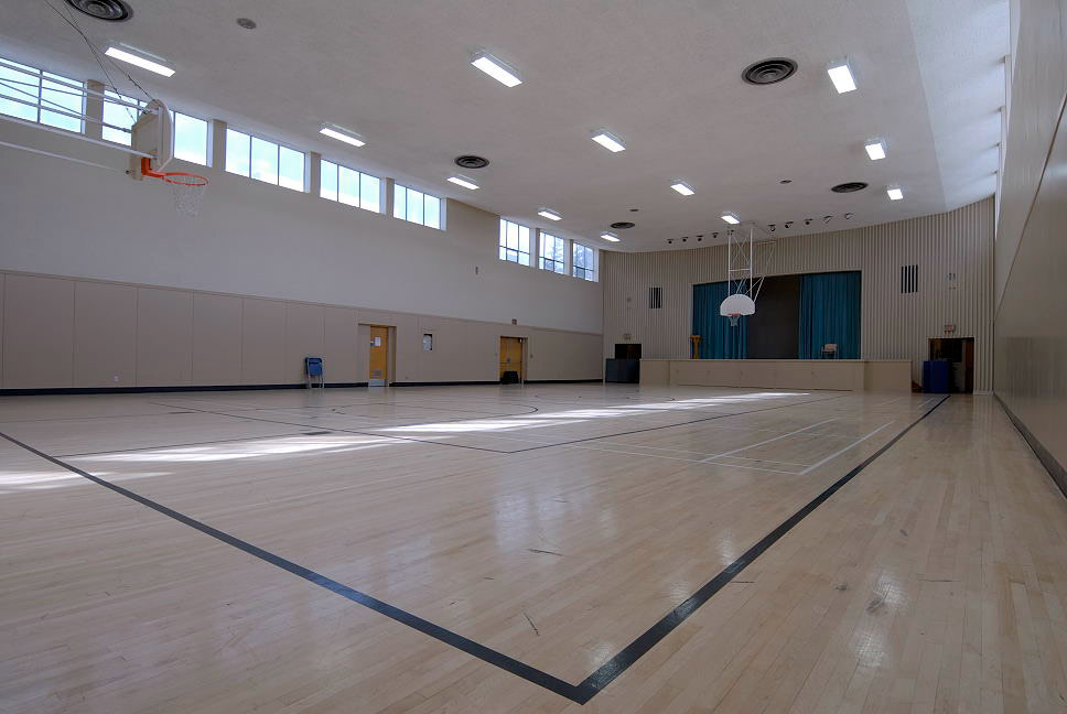 LED lighting solutions for a school gymnasium