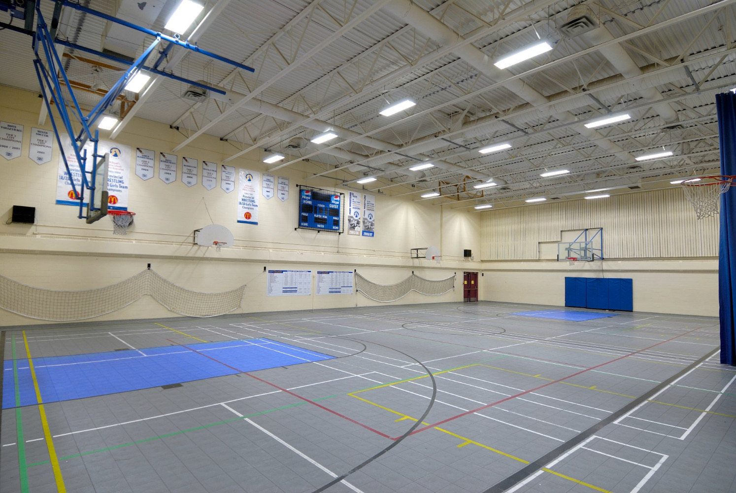 LED lighting solutions for a gymnasium