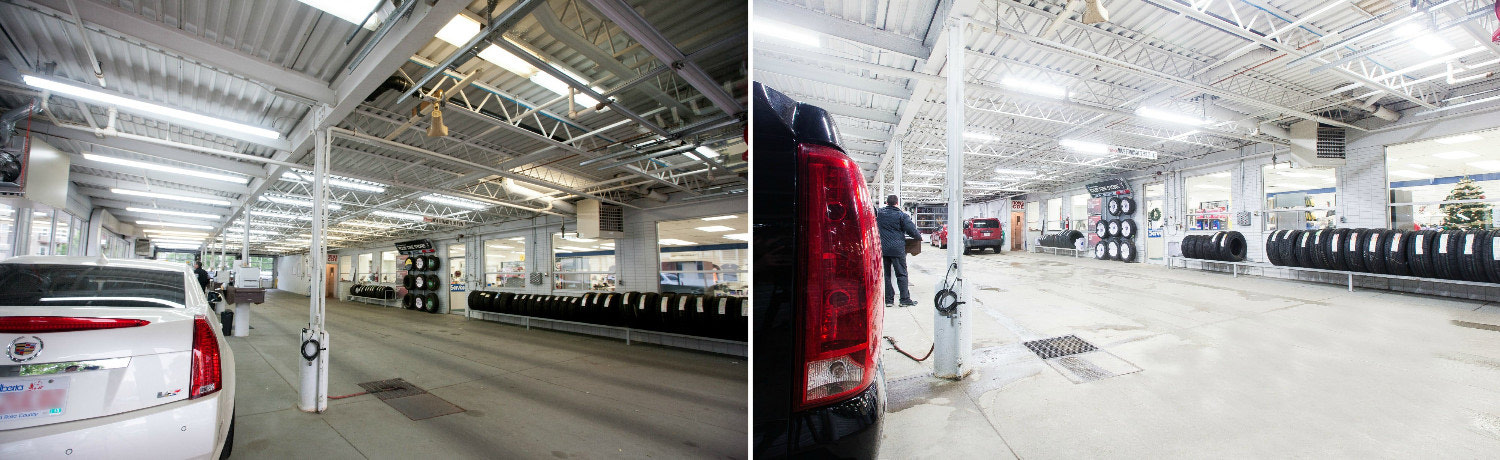LED lighting solutions for a car dealership