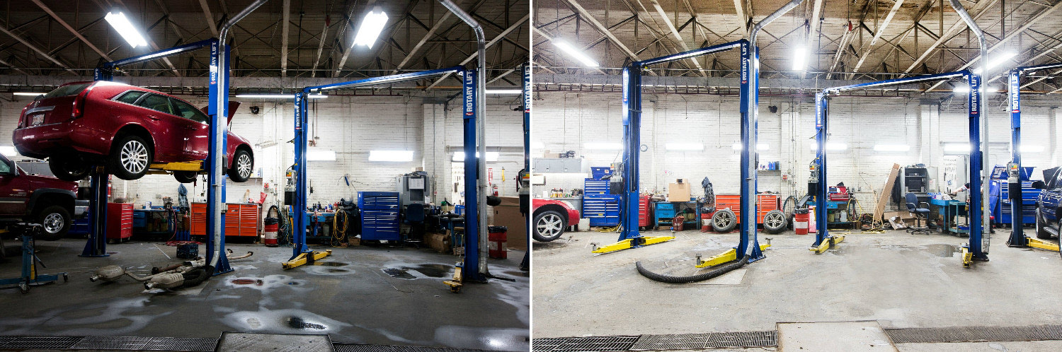 LED lighting solutions for a mechanical shop
