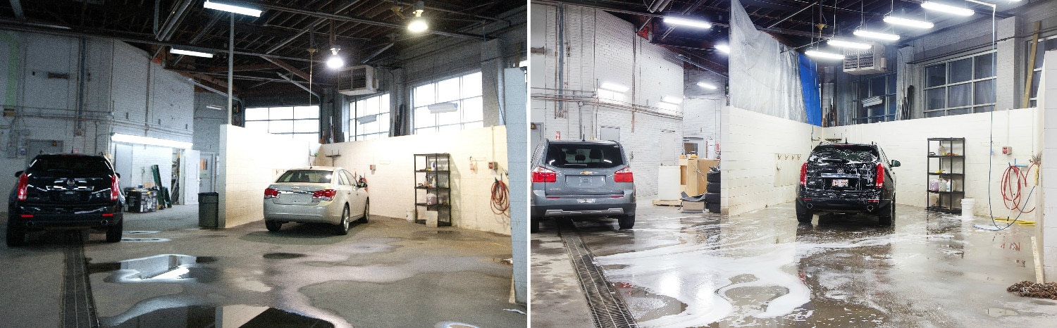 LED lighting solutions for a car wash bay
