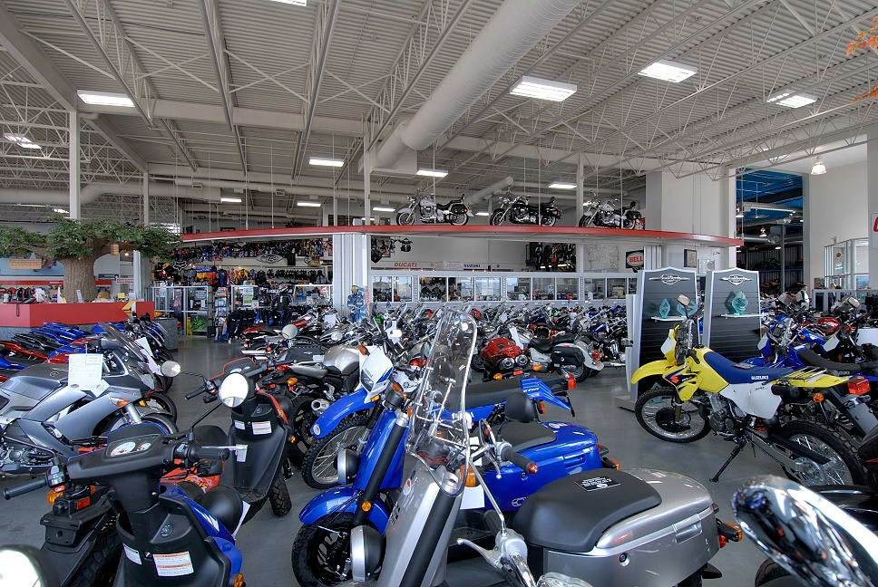 LED lighting solutions for a motorcycle dealership