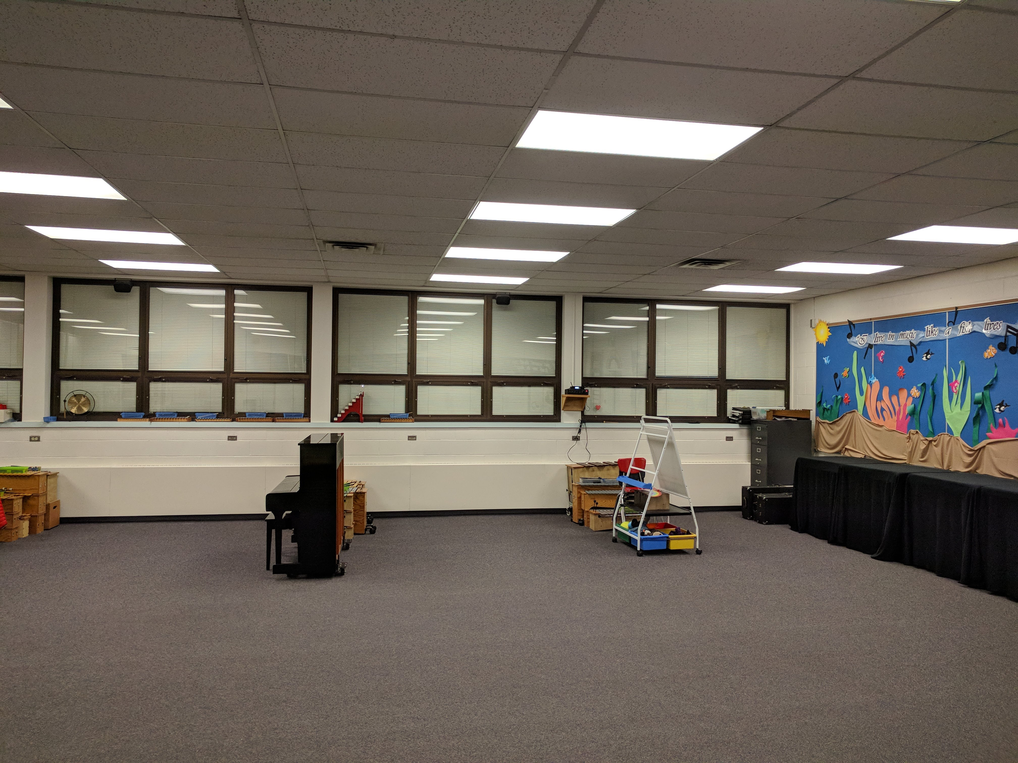 LED lighting solutions for a school